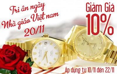 Tri ân ngày nhà giáo Việt Nam 20/11 giảm giá 10% các sản phẩm