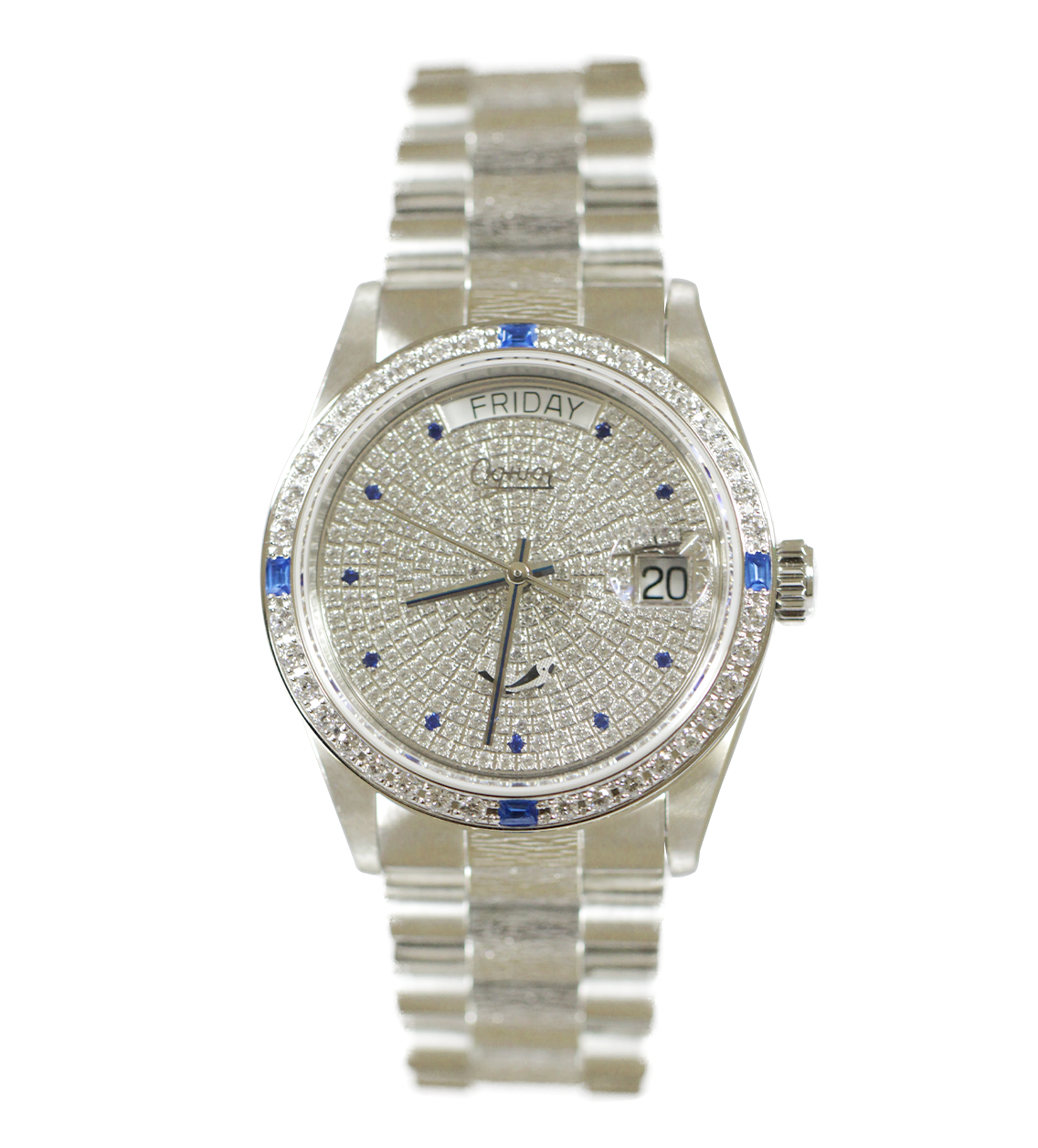 Đồng hồ nam Ogival đính pha lê OG30327-1DMW