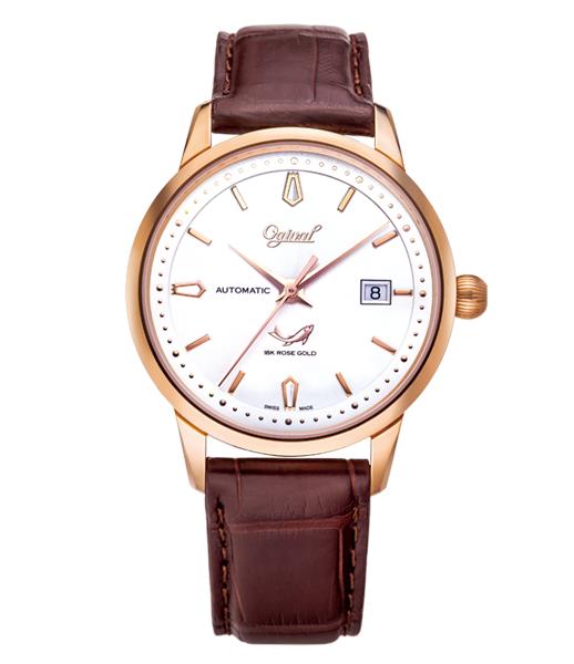 Đồng hồ nam Ogival dây da OG1929-24AGR-GL