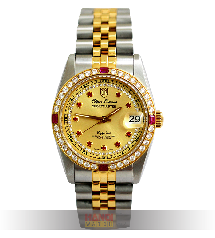 Đồng hồ nam Olym Pianus đính đá OP89322ADSKD-V