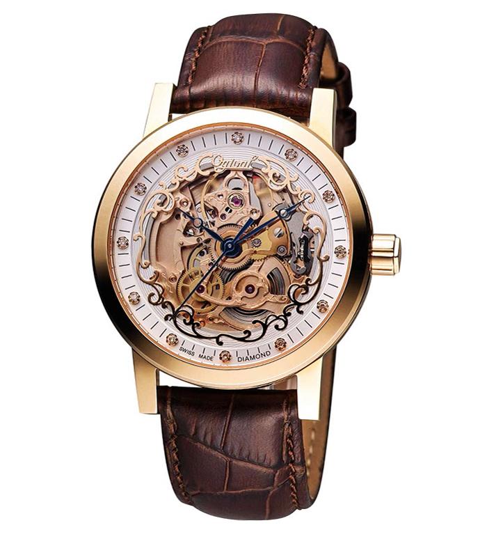 Đồng hồ OGIVAL nam OG388.61AGR-GL Skeleton