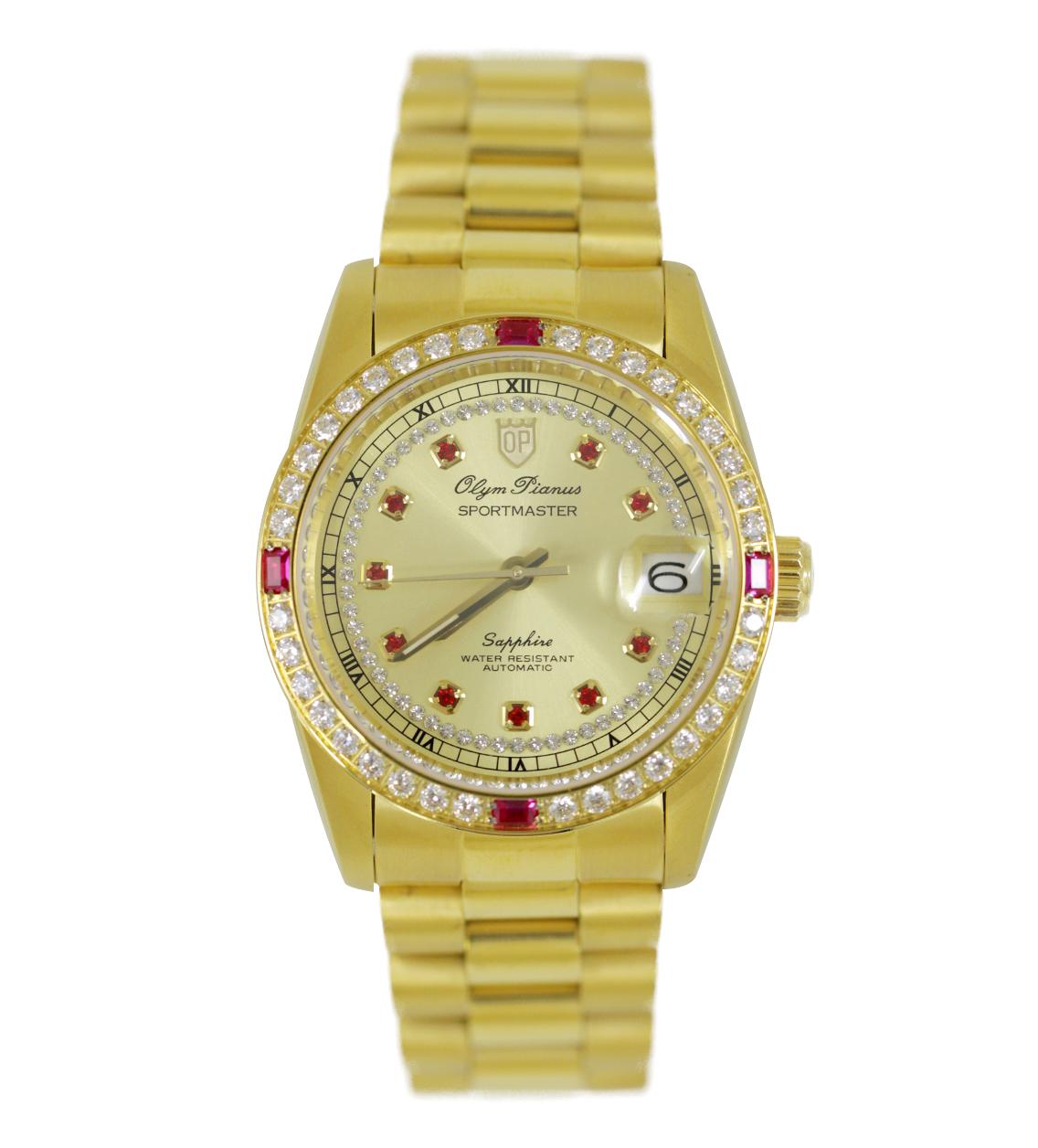 Đồng hồ OLYM PIANUS nam viền đá OP89322DMK-V