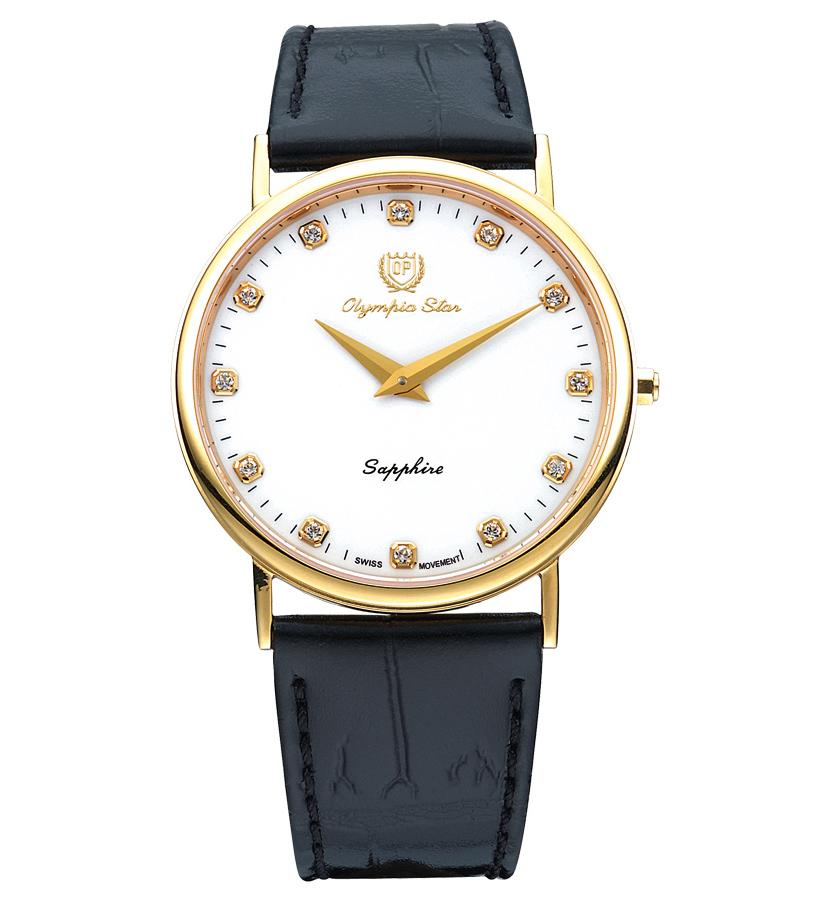 Đồng hồ Olympia Star nam dây da 58035MK-GL