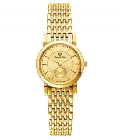 Đồng hồ nữ OLYMPIA STAR mạ vàng 58062LK