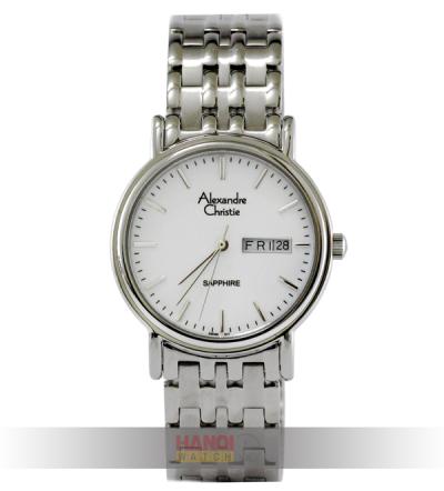 Đồng hồ Alexandre Christie AC8C12MS mặt trắng