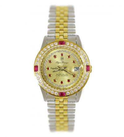 Đồng hồ nữ Olym Pianus đính đá đỏ OP68322DLSK-V