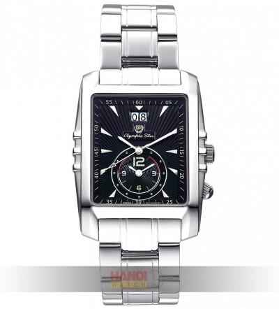 Đồng hồ Olympia Star mặt chữ nhật 58031MS-Black