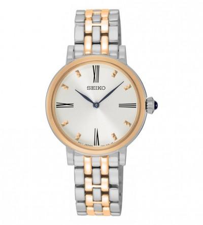 Đồng hồ Seiko nữ demi kim xanh SFQ816P1