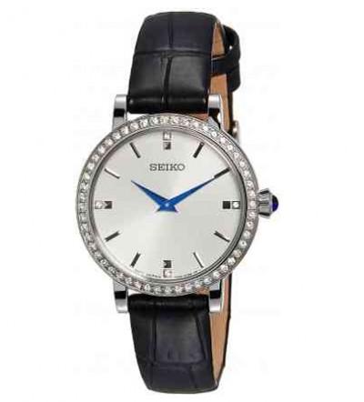 Đồng hồ Seiko nữ đính đá dây da SFQ811P2