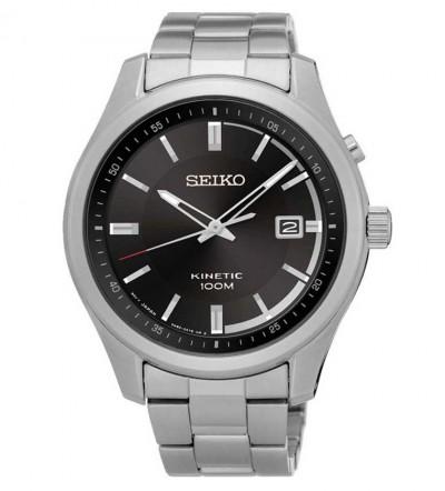 Đồng hồ nam Seiko Kinetic mặt đen SKA719P1