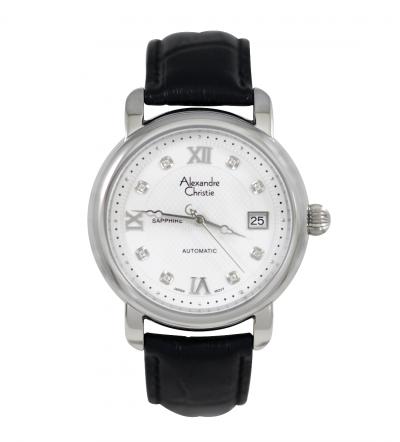 Đồng hồ Alexandre Christie cơ dây da 8A178B-MSSBK