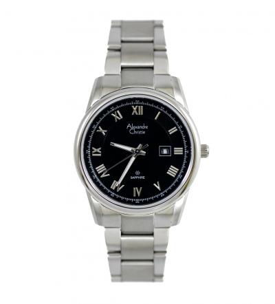 Đồng hồ Alexandre Christie nữ mặt đen AC8380LD