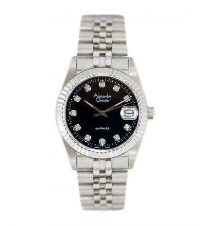 Đồng hồ Alexandre Christie mặt đen 8B138A-MSSBK