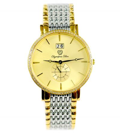 Đồng hồ OLYMPI STAR nam 58012-07DMS viền đá