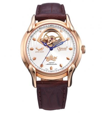 Đồng hồ OGIVAL nam dây da OG1950-1AGR