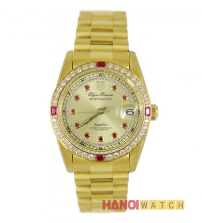 Đồng hồ OLYM PIANUS nam viền đá OP89322ADKD-V