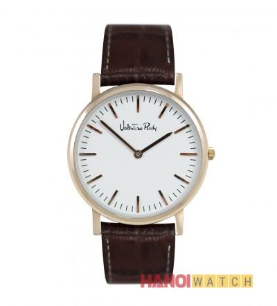 Đồng hồ nam vàng hồng dây da VR1054RG-YDX